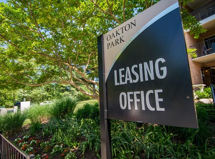 Oakton Park Apartments Signage 12