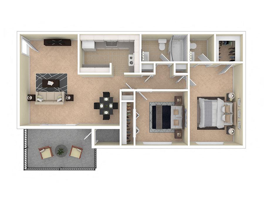 Spring Ridge Apartments Two Bedroom