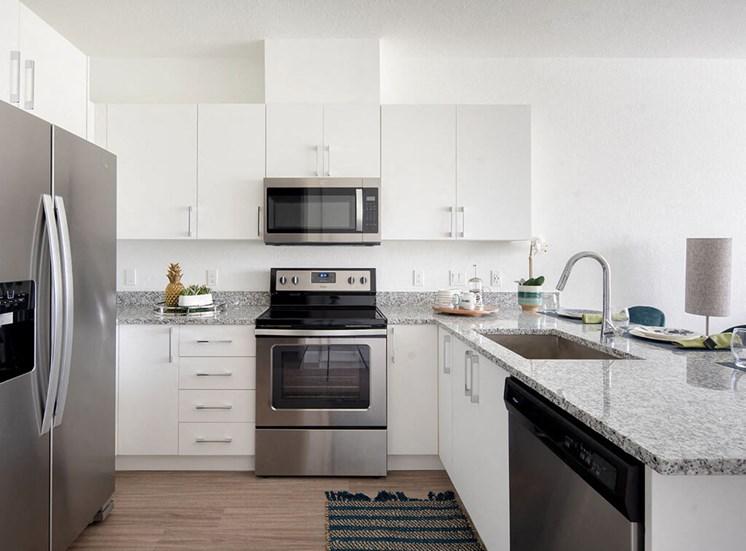 kitchen at Lake Monroe Apartments, Sanford, 32771