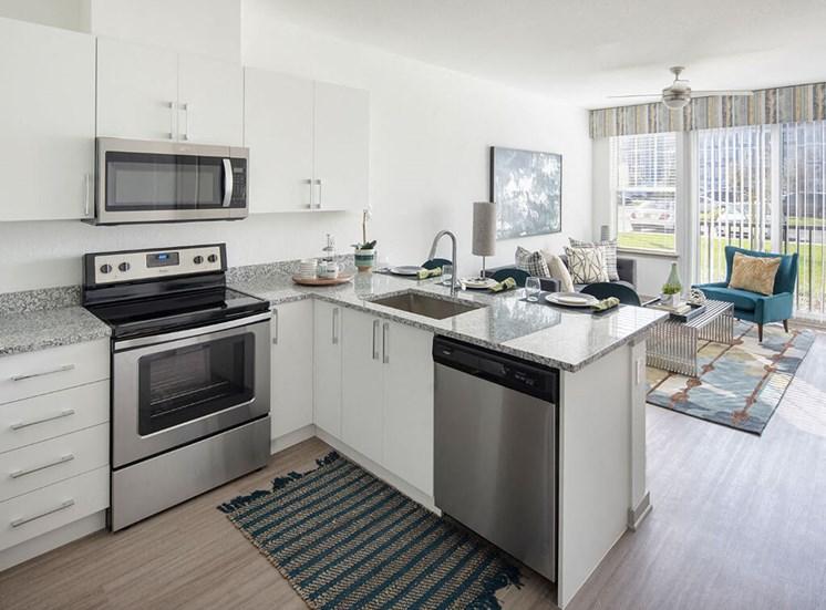 Modular Kitchen at Lake Monroe Apartments, Sanford, Florida