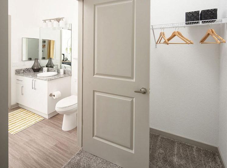 Bedroom With Closet at Lake Monroe Apartments, Florida