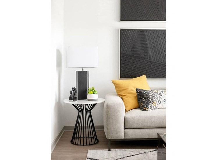 Living room with A convenient sofa at Lake Monroe Apartments, Sanford, FL