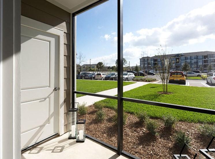 Outdoor Patio at Lake Monroe Apartments, Florida