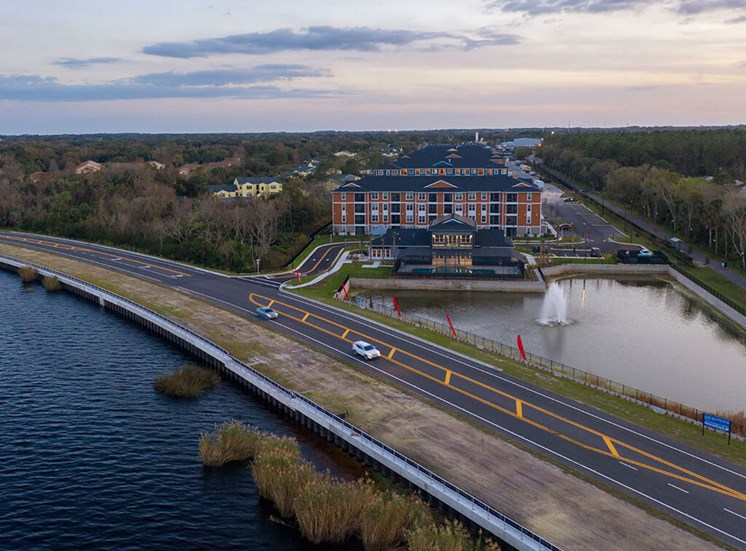 Aerial Exterior View at Lake Monroe Apartments, Sanford, Florida