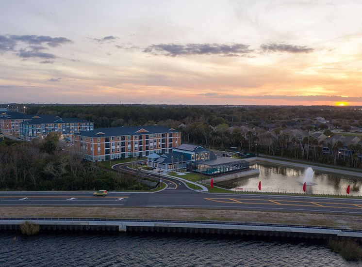 View with Sun set at Lake Monroe Apartments, Florida