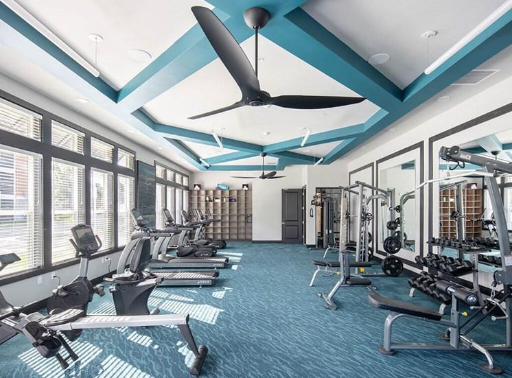 Modern Fitness Center at Lake Monroe Apartments, Sanford, 32771