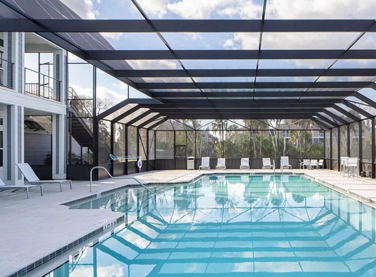Blue Cool Swimming Pool at Lake Monroe Apartments, Sanford, 32771