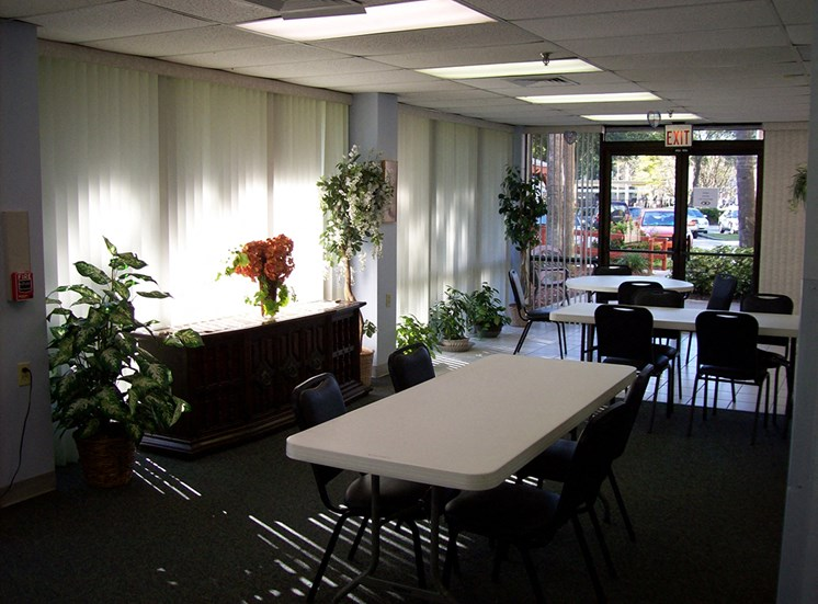 community room with tables