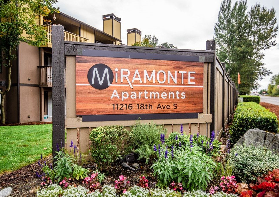 Tacoma Apartments - Miramonte Apartments - Sign