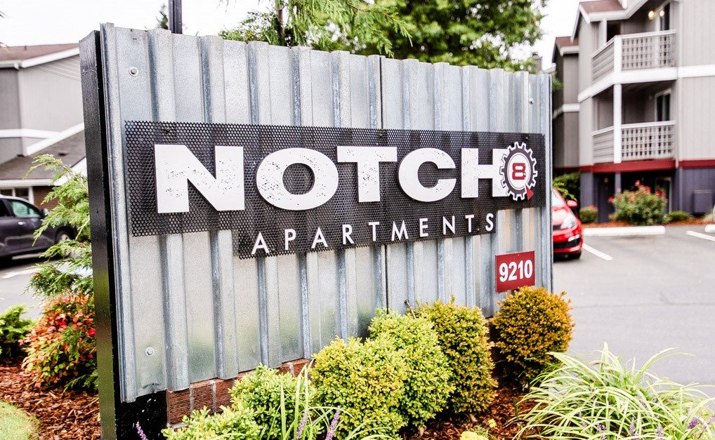 Tacoma Apartments - Notch8 Apartments - Sign