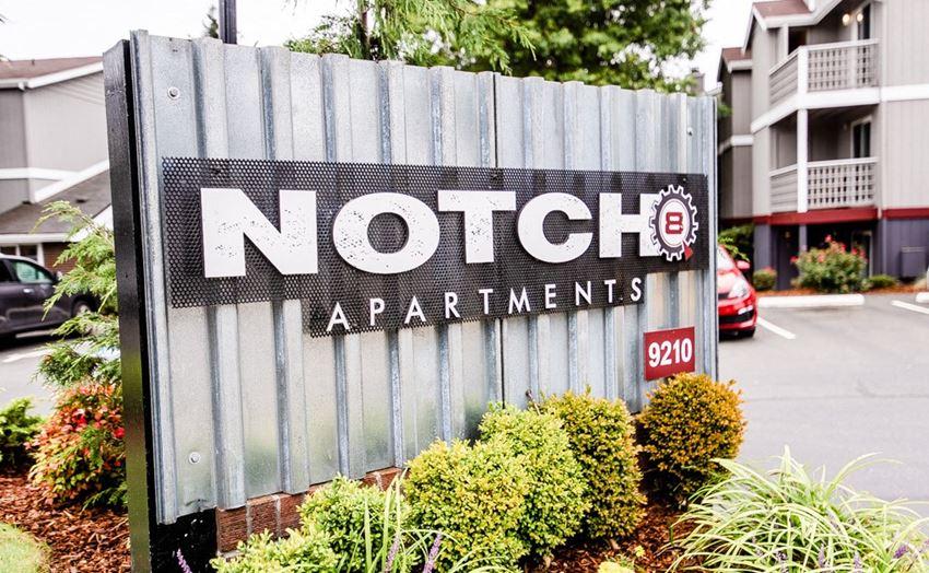 Tacoma Apartments - Notch8 Apartments - Sign