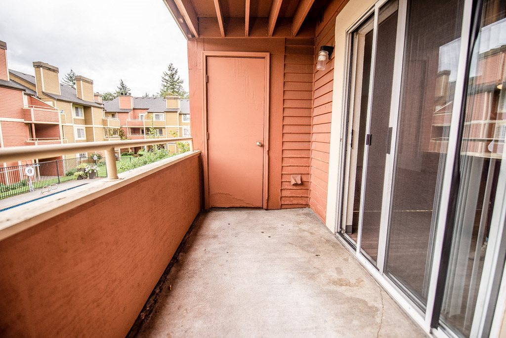 Tacoma Apartments - Sienna Park Apartments - Deck, Storage Room, and Rear Exteriors