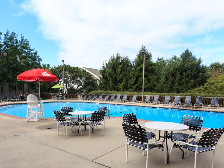 Resort-Style Pool at The Residences at the Manor Apartments, Frederick, Maryland