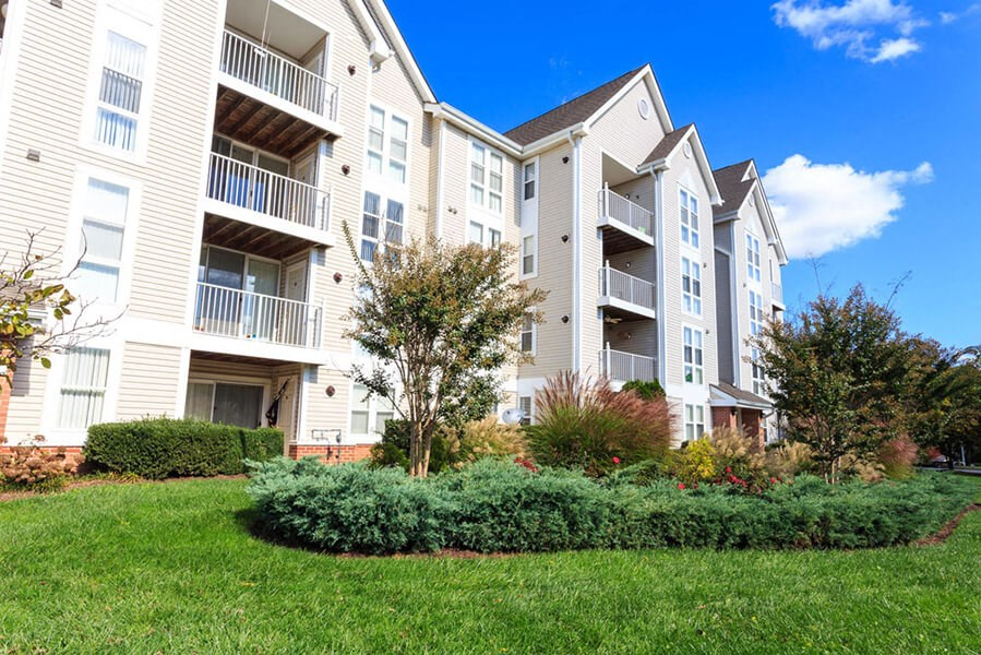 Beautiful Landscaping and Park-like Setting at The Residences at the Manor Apartments, Frederick, Maryland