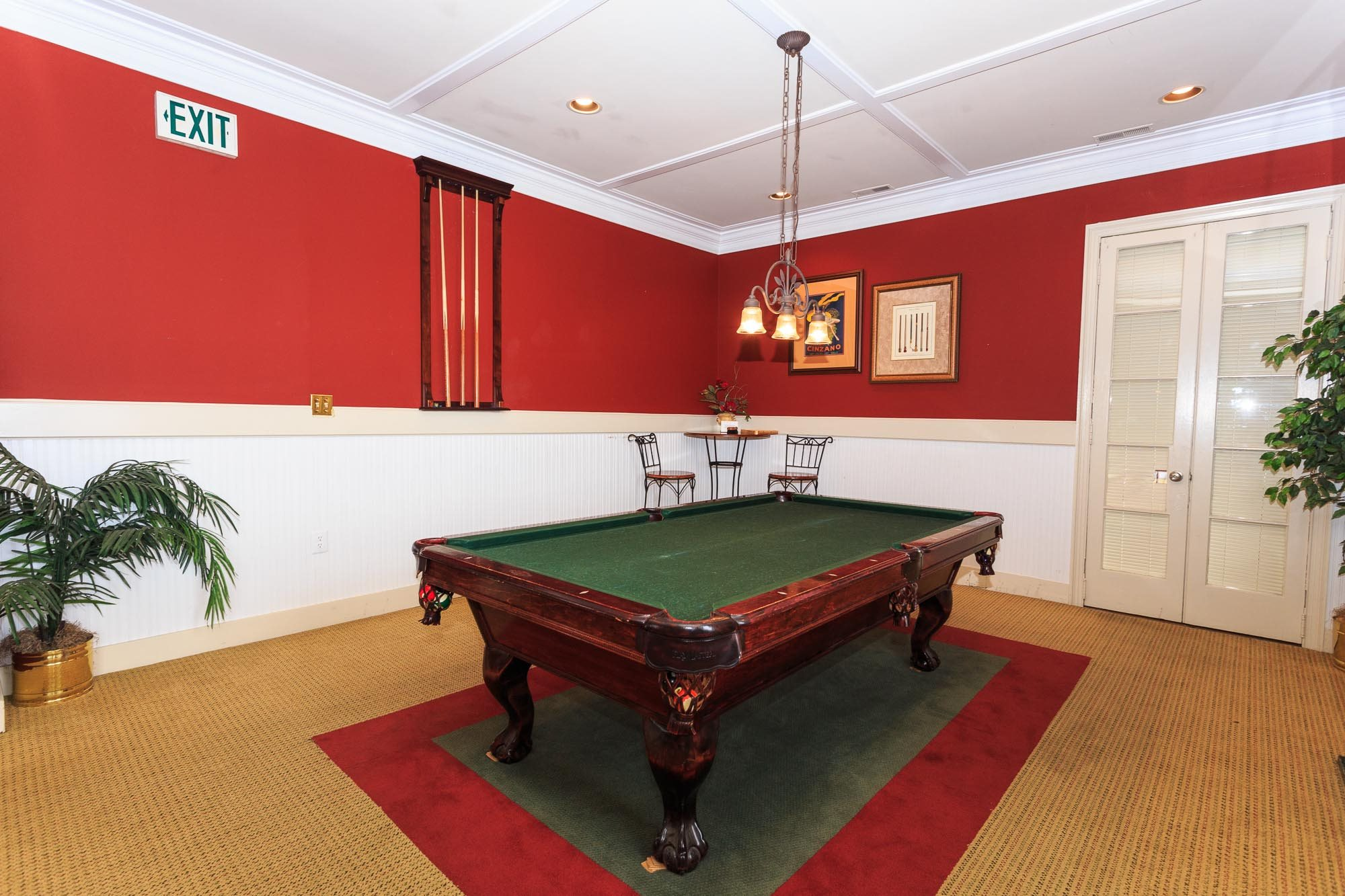 Billiard Game Room at The Residences at the Manor Apartments, Maryland
