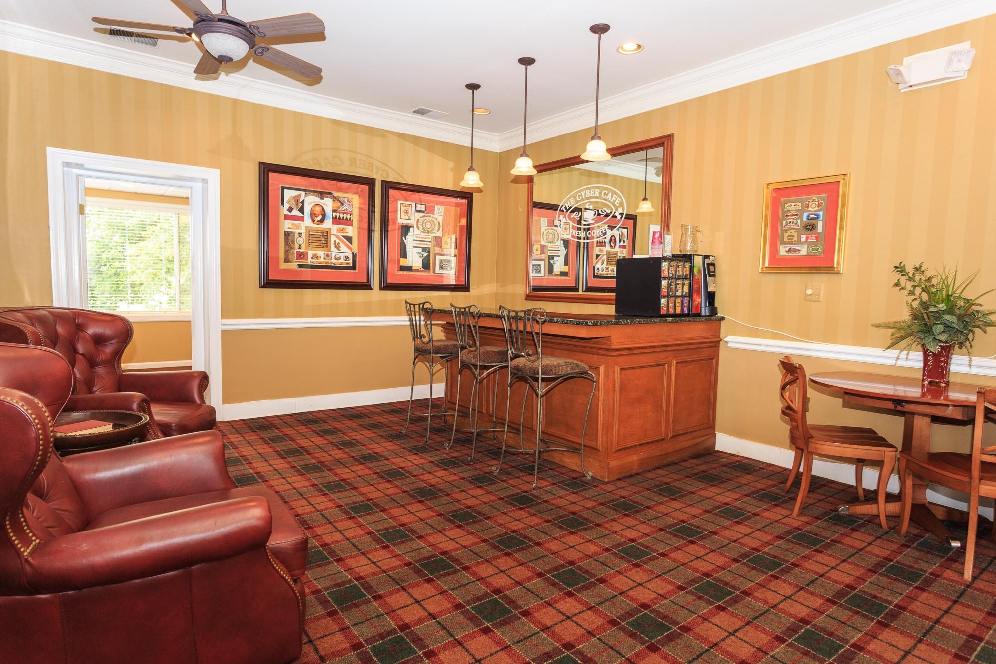 Cyber Cafe with Complimentary Gourmet Coffee at The Residences at the Manor Apartments, Maryland, 21702