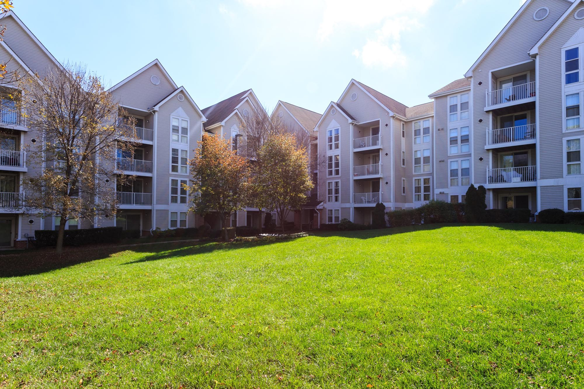 Courtyard at The Residences at the Manor Apartments, Frederick, MD