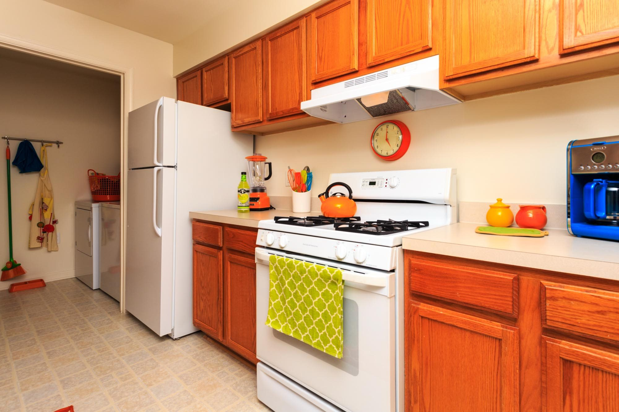 Contemporary Kitchen at The Residences at the Manor Apartments, Frederick, MD 21702