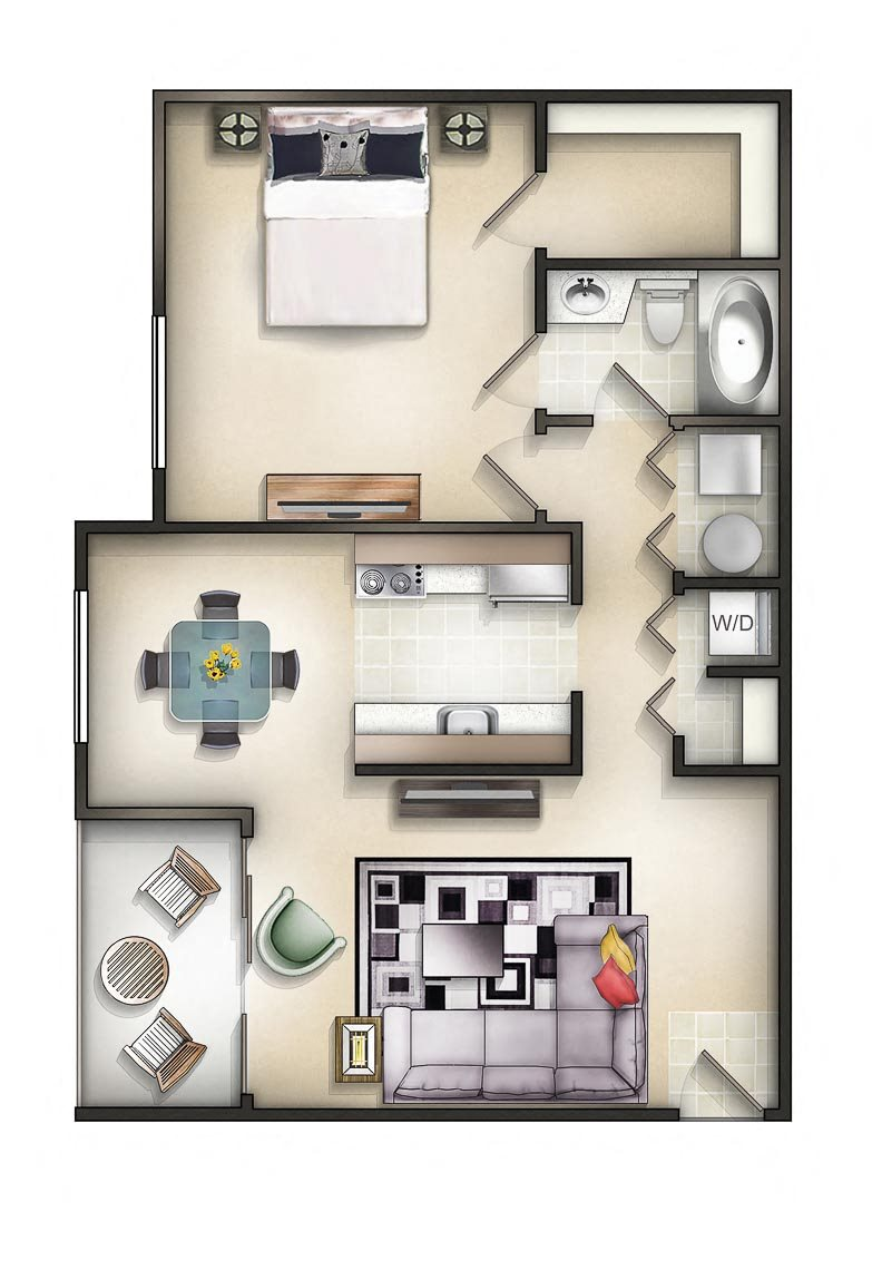 Floor plan at The Residences at the Manor Apartments, Maryland, 21702