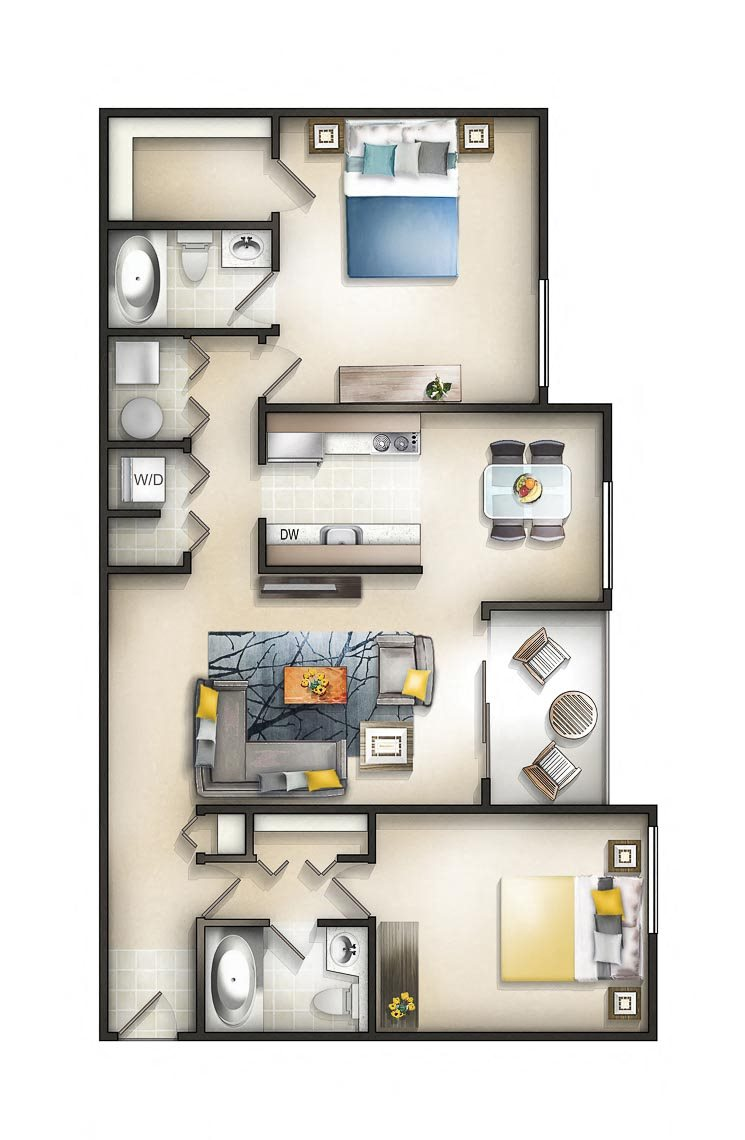 Floor plan at The Residences at the Manor Apartments, Frederick, MD