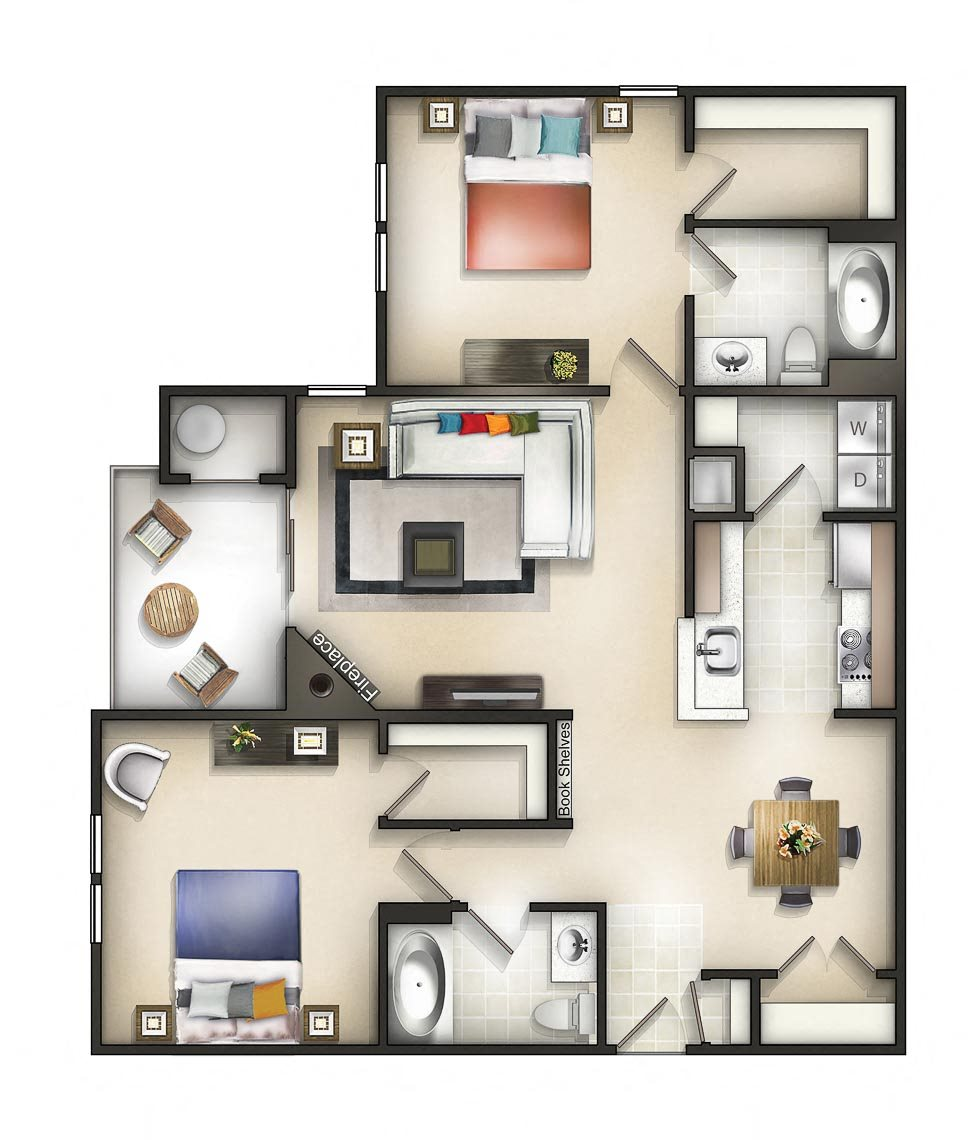 Floor plan at The Residences at the Manor Apartments, Frederick, Maryland