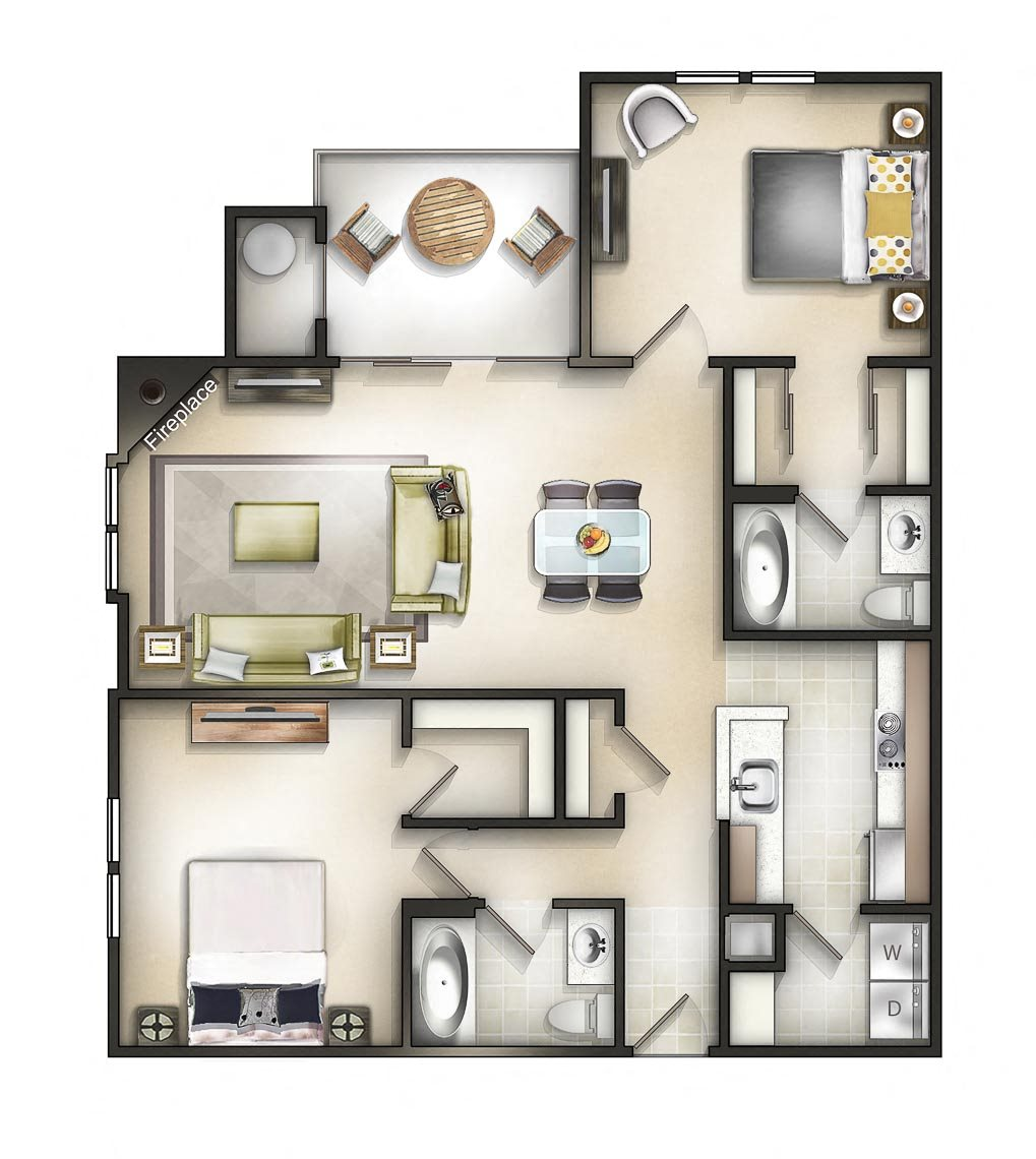Floor plan at The Residences at the Manor Apartments, Frederick, MD 21702