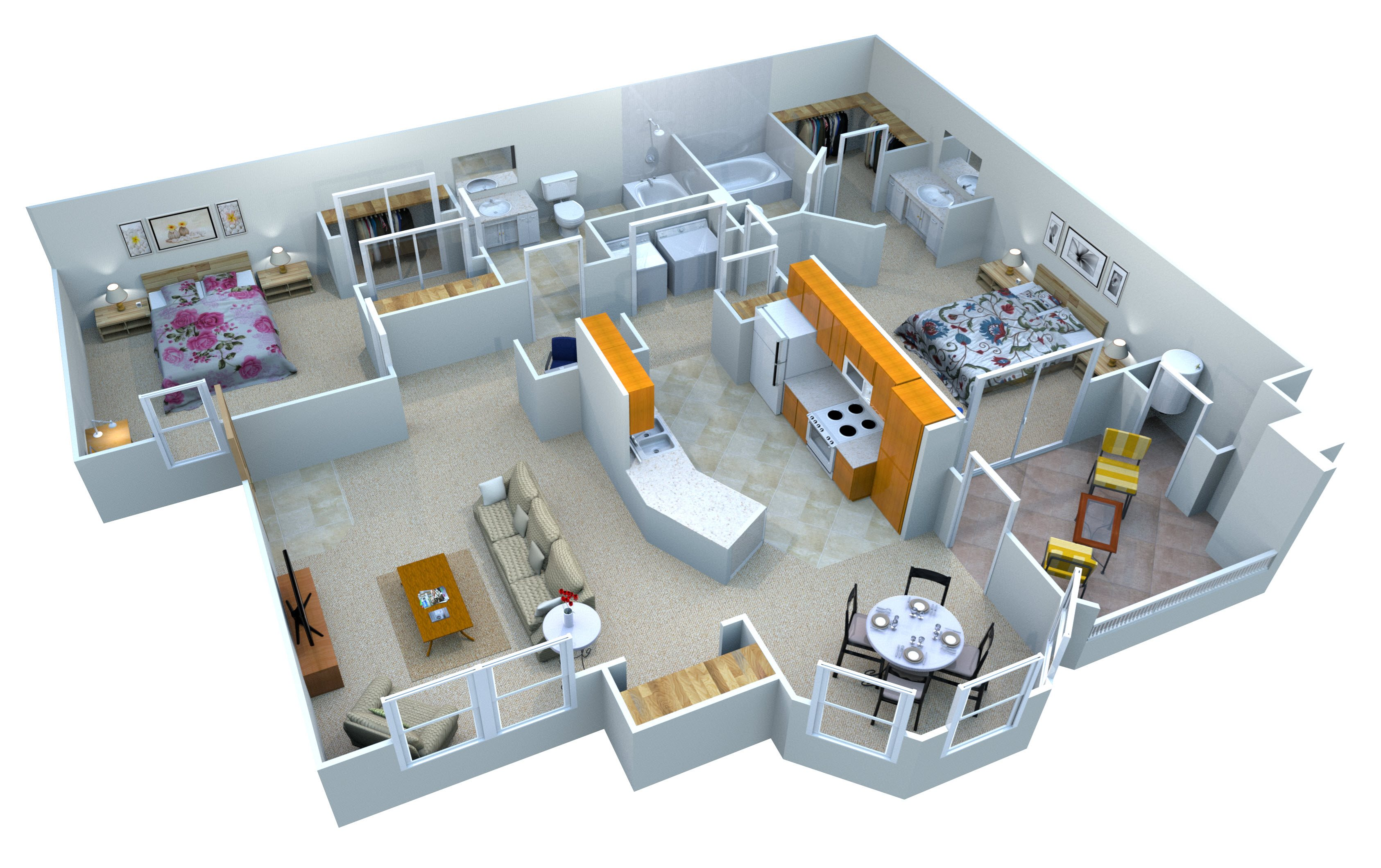 The Crosscut Floor Plan 4