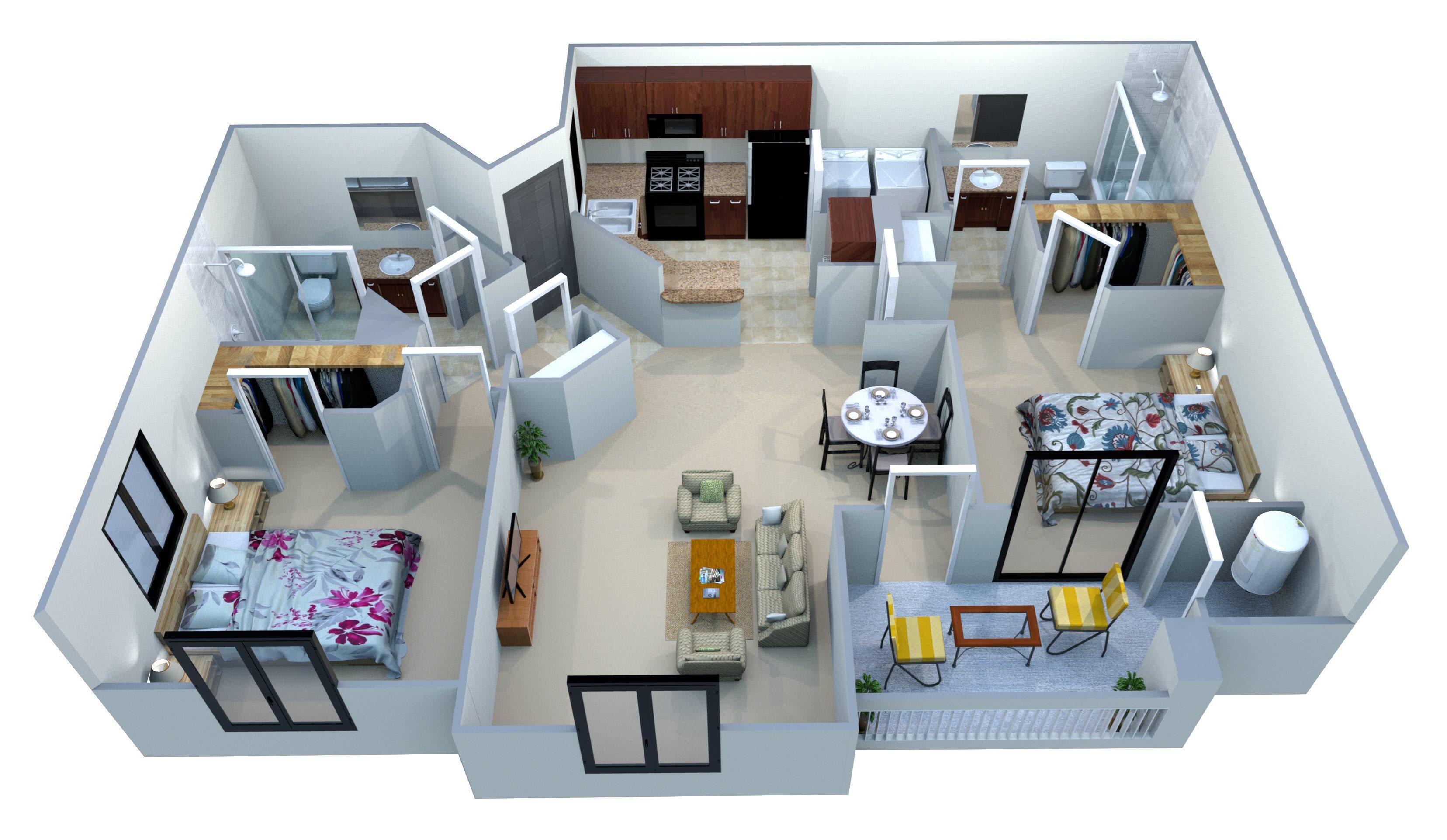 Plan B-3 Floor Plan 4