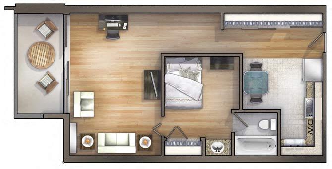 Delicieux 1 Bedroom