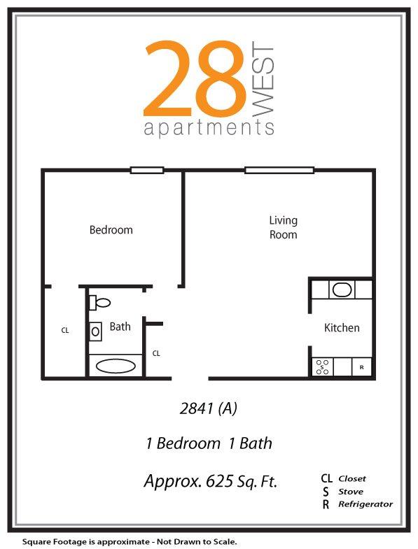 One Bedroom A Floor Plan 1