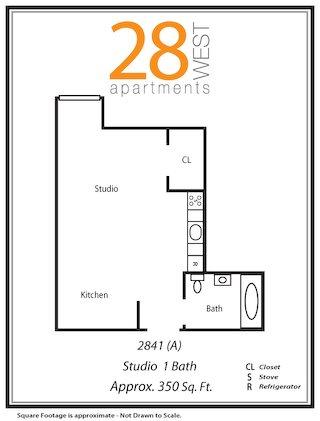 Studio A Floor Plan 7