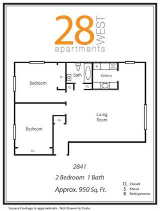 Two Bedroom Floor Plan 10