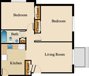 Two Bedroom Standard Upgraded