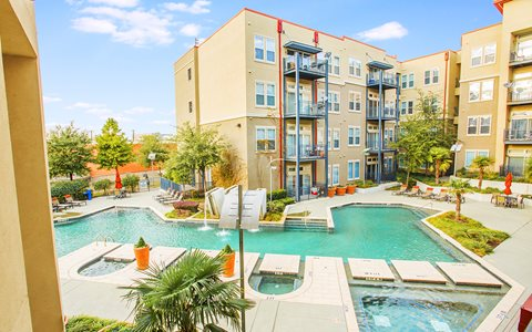 Sparkling Resort Style Swimming Pool For Sunning And Socializing Life In The Trendy Design District