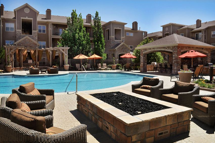 Resort-Style Swimming Pool and Sundeck at Apartment Homes in Cherry Creek School District