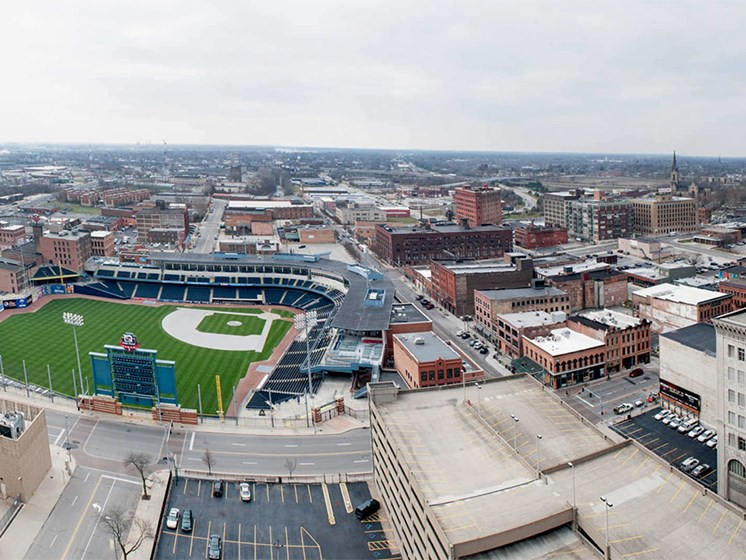 Fantastic Location and Views at Commodore Perry Apartments in Downtown Toledo, OH