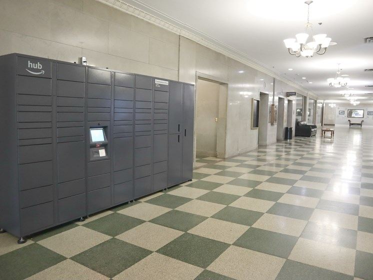 Convenient Package Lockers at Commodore Perry Apartments in Downtown Toledo, OH