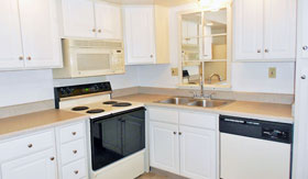 Kitchen of apartments in Saginaw