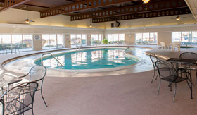 Indoor heated pool at Camelot Place Apartments in Saginaw