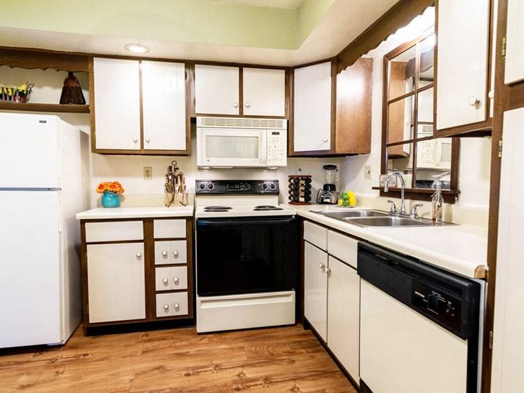 Apartments in Saginaw, MI White Kitchen