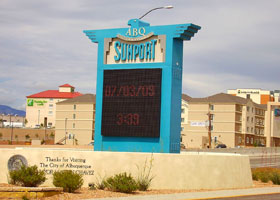 Albuquerque International Sunport entrance