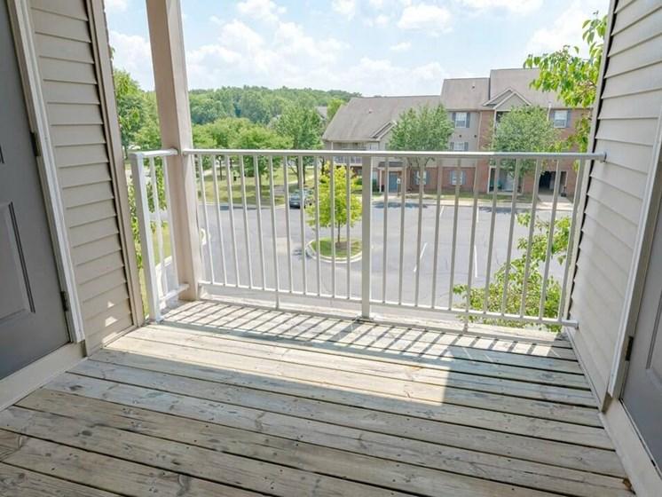 private balcony in Taylor MI Apartments