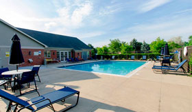 Outdoor pool at Chelsea Park Apartments in Taylor