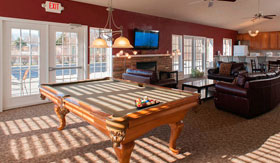 Apartments in Taylor with pool table in Clubhouse