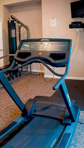 Fitness Center at apartments in Taylor