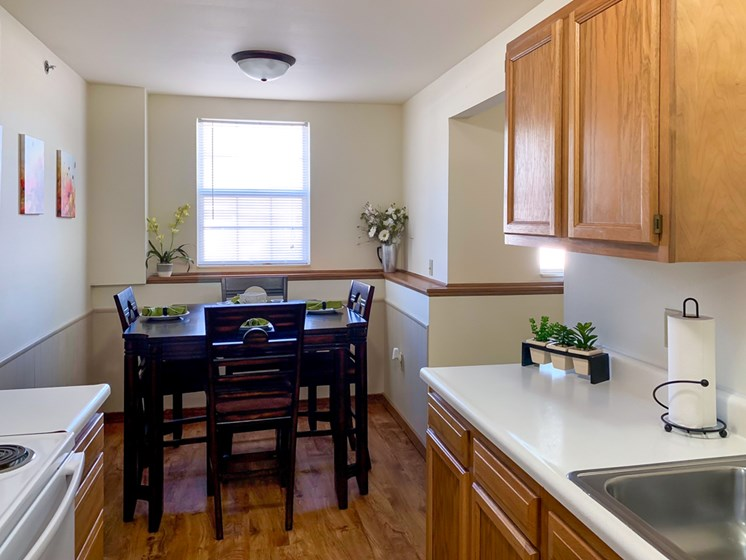 Open Kitchen Space at Crown Pointe Apartments in Holland MI