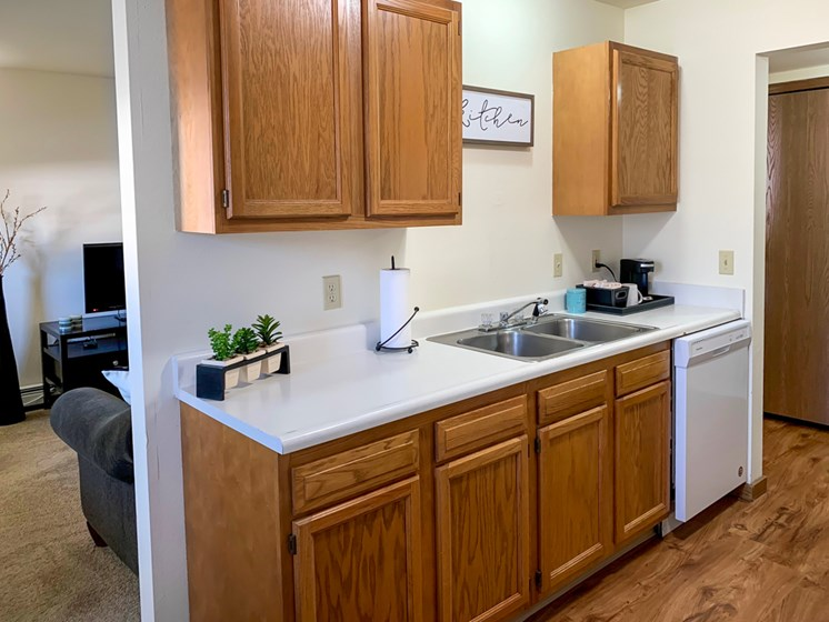 Updated Kitchen At Crown Pointe Apartments In Holland, MI