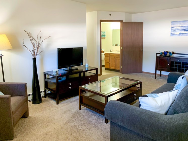Spacious Living Rooms at Crown Pointe Apartments in Holland, MI