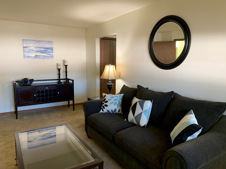 Spacious Living Rooms at Crown Pointe Apartments in Holland MI