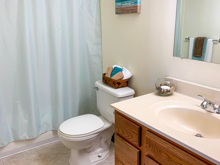 Spacious Bathrooms at Crown Pointe Apartments in Holland MI